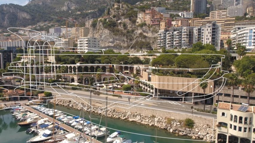 Visual of Studio Fuksas' new building for Fontvieille waterfront