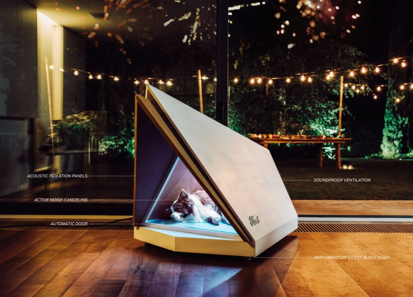 Ford's noise-cancelling kennel shields dogs from fireworks