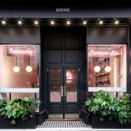 Interiors of Grind, Greenwich, designed by Biasol