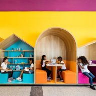 Colourful booths enliven Hayarden school for children of refugees in Tel Aviv