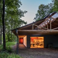 Fallingwater outbuilding renovated into student workshop and studio by Bohlin Cywinski Jackson