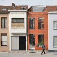 Hollow brick shell encases glass-walled House SSK in Belgium