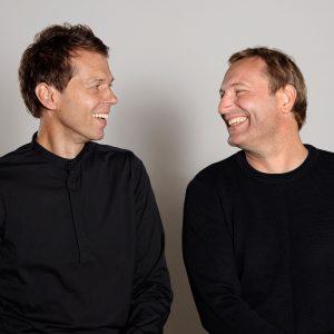 Portrait of Dezeen Awards judges Jaspar Jansen and Jeroen Dellensen of i29