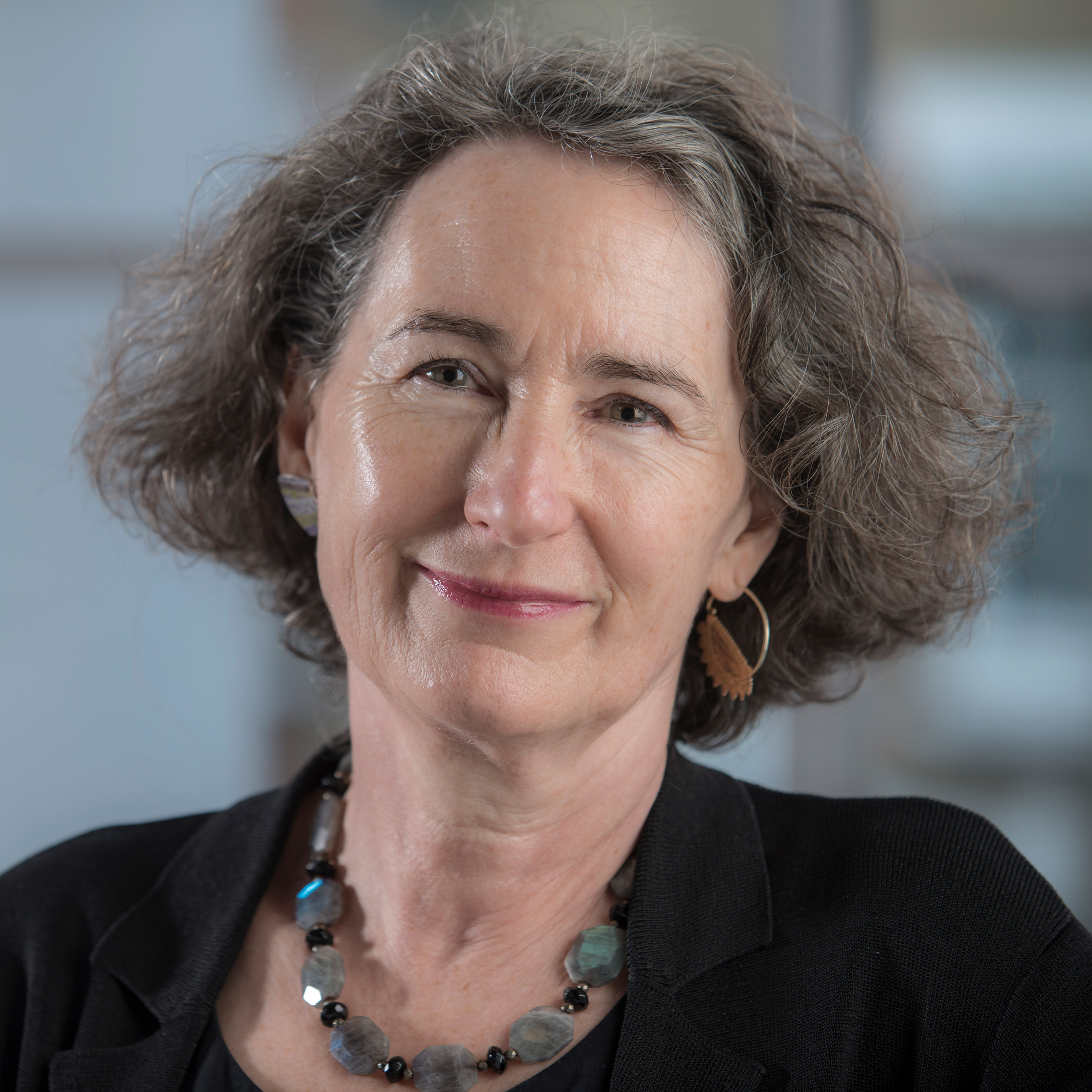 Portrait of British architect Julia Barfield, one of Dezeen Awards 2019 judges