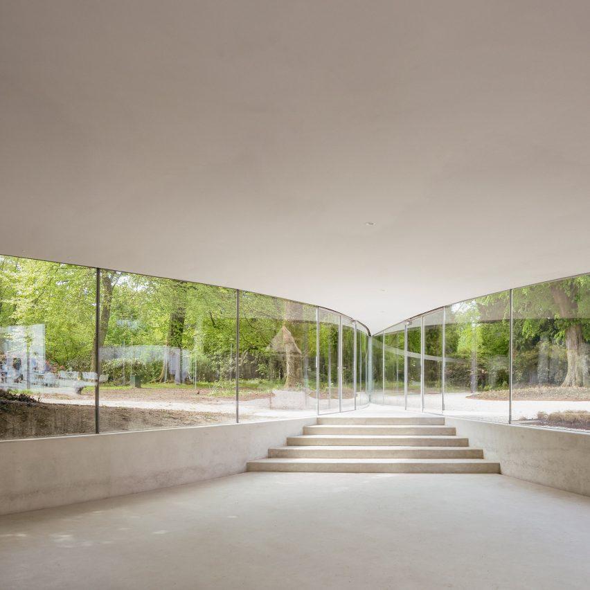 Park Groot Vijversburg Visitor Center in the Netherlands by Junya Ishigami