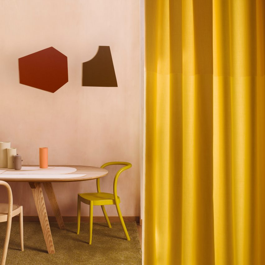 Margrethe Odgaard designs curtains for Kvadrat that take cues from wainscoting