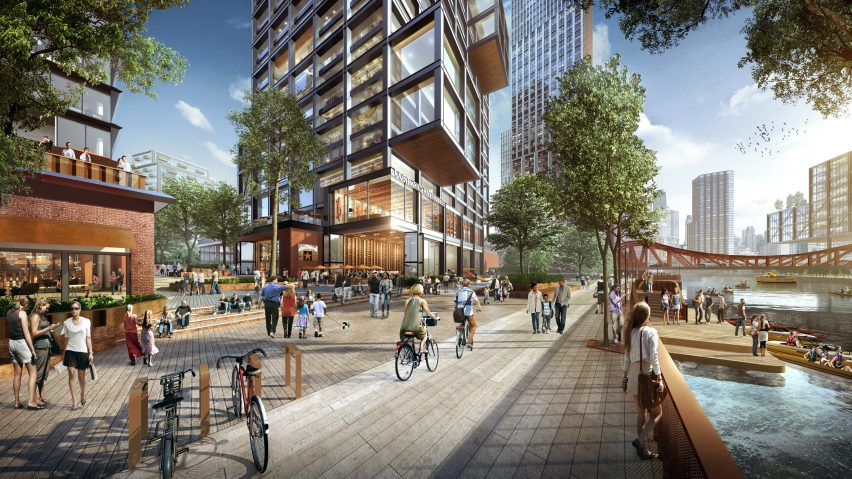 Lincoln Yards neighbourhood masterplan by SOM