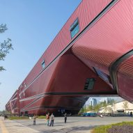Mecanoo completes giant red cultural centre in China