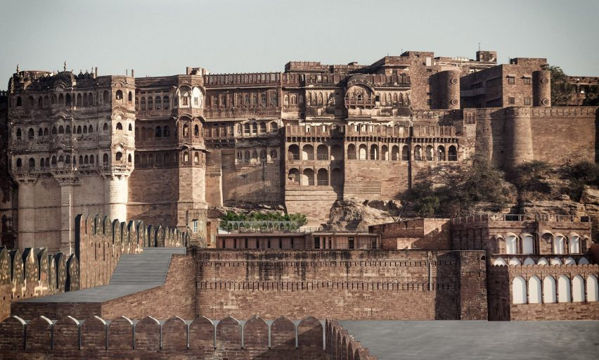 Facade of the Mehrangarh Fort visitor centre by Studio Lotus