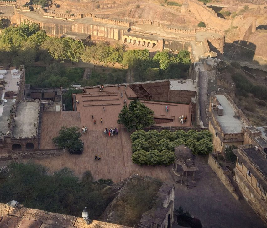 Viewing decks at the Mehrangarh Fort visitor centre by Studio Lotus