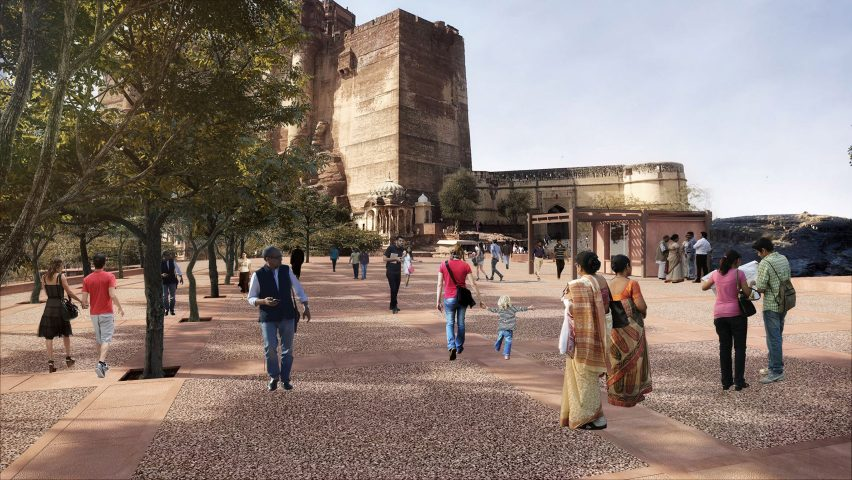 Plaza for the Mehrangarh Fort visitor centre by Studio Lotus