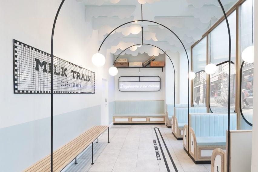Milk Train ice cream parlour, designed by FormRoom