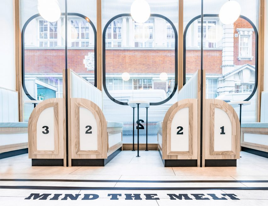 Milk Train ice cream parlour, designed by FormRoom