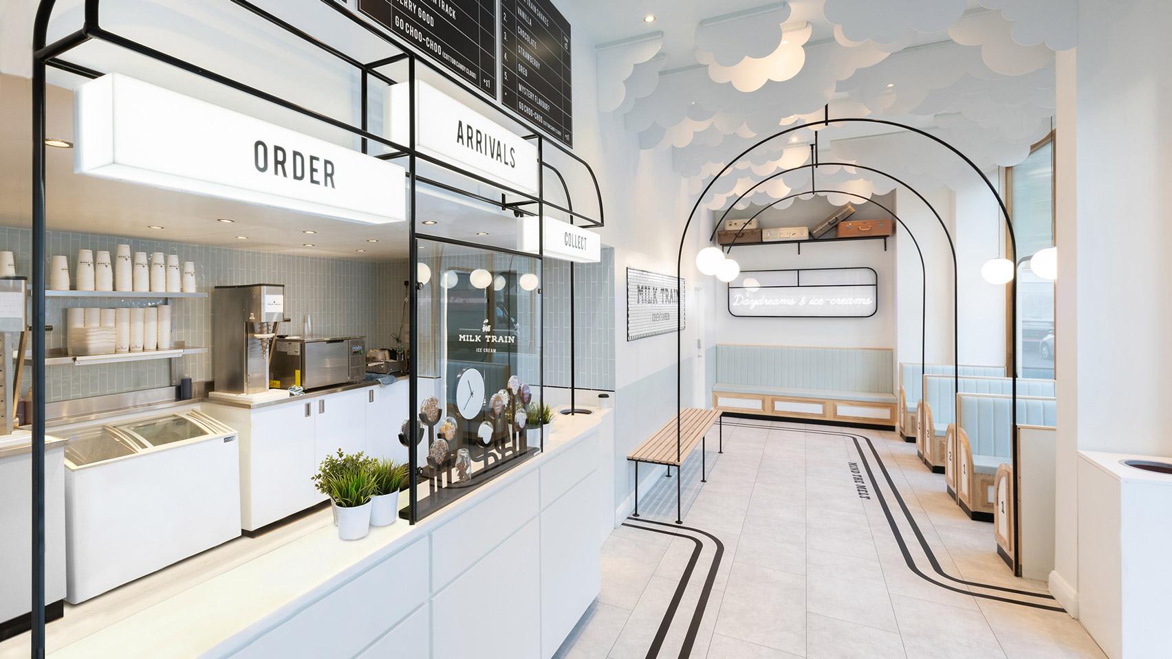 Инстаграммный магазин мороженого Milk Train