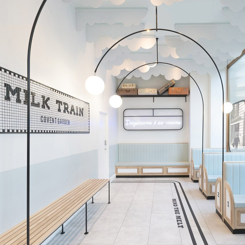 FormRoom fashions Instagrammable interiors for Milk Train ice cream shop
