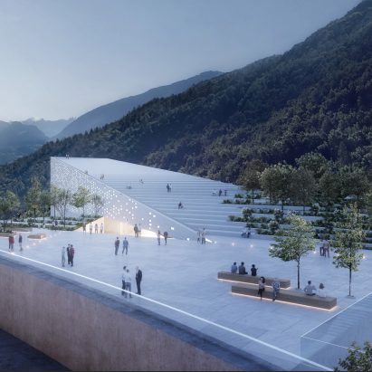 Visuals of Museum Quarter by Snøhetta in Bolzano, Italy