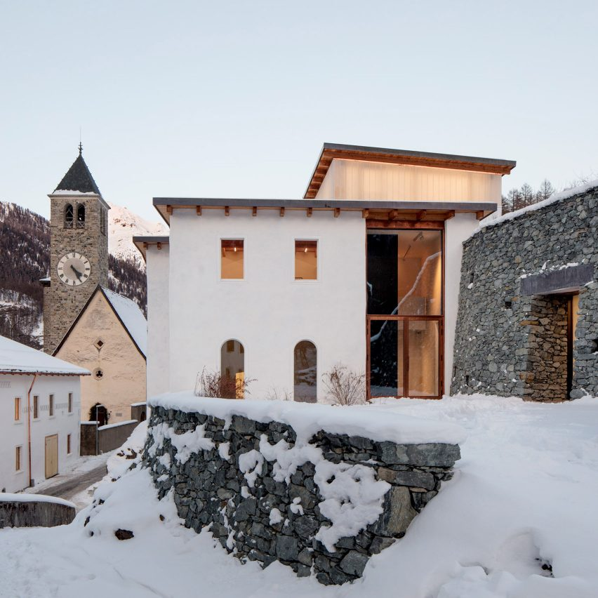 Muzeum Susch in the Swiss Alps has galleries excavated from mountainside