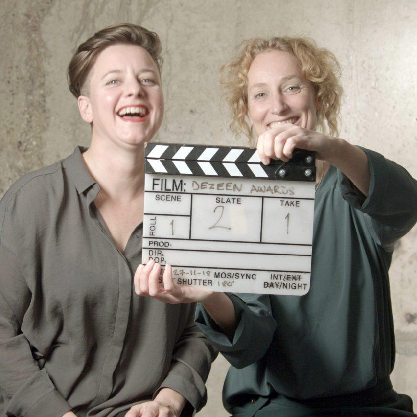 Atelier NL co-founders Nadine Sterk and Lonny van Ryswyck at Dezeen Awards 2018