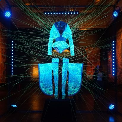 Glowing dress to be exhibited during the Cooper Hewitt Design Triennial