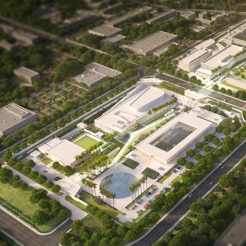 New Delhi US embassy masterplan by Weiss Manfredi
