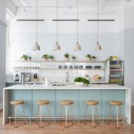 Earthy and homey details feature in New York clinic Parsley Health by Alda Ly