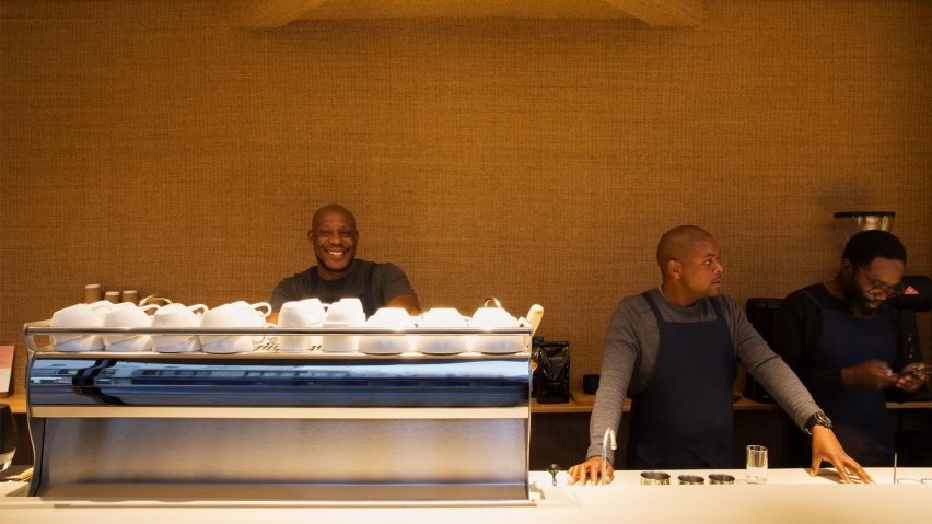 Pauline's Cape Town coffee bar sisal interiors