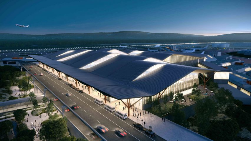 Pittsburg Airport Terminal by Gensler, HDR and Luis Vidal