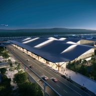 Gensler, HDR and Luis Vidal propose wave-shaped terminal for Pittsburgh Airport
