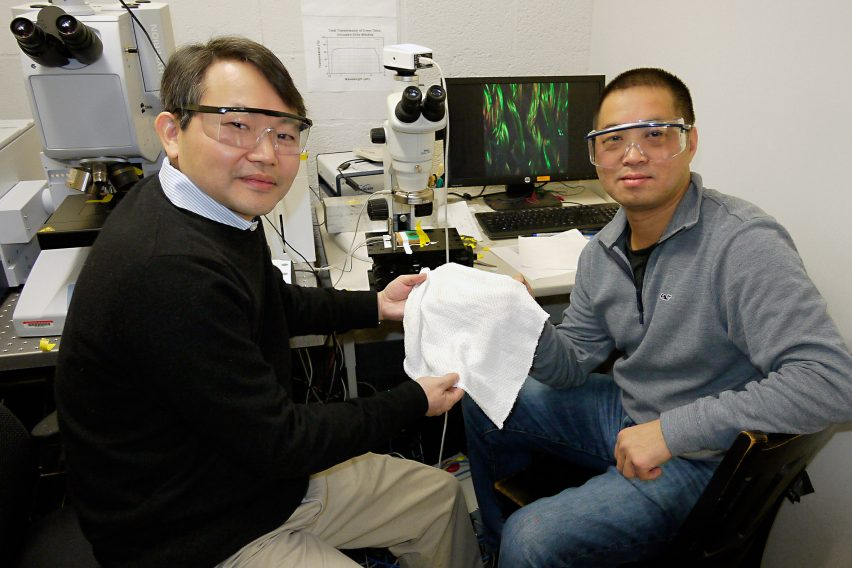 Temperature regulating fabric by researchers at University of Maryland