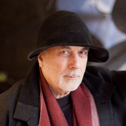 Portrait of Dezeen Awards 2019 judge Ron Arad. Photo is by Michael Castellana