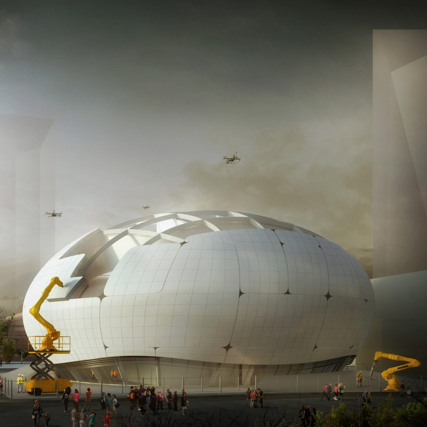 Robot Science Museum in Seoul will be built by robots and drones