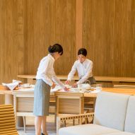 Shishi-Iwa House boutique hotel by Shigeru Ban in Karuizawa, Japan