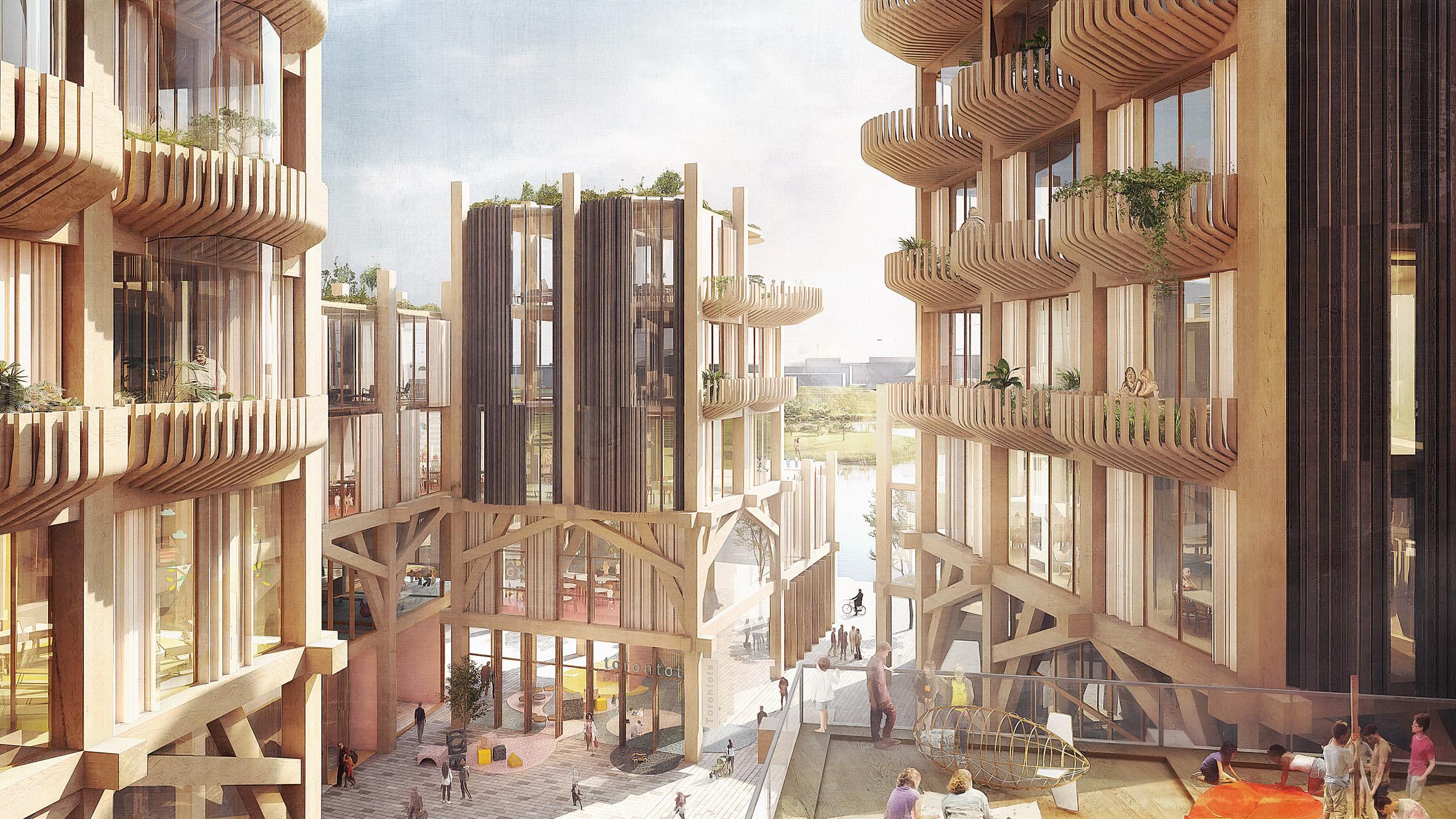 Construction Pergola Bois Plan snøhetta and heatherwick studio unveil designs for sidewalk