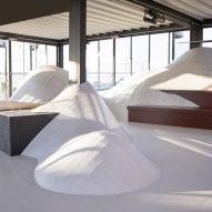 Note Design Studio creates artificial snow dunes on rooftop in Stockholm