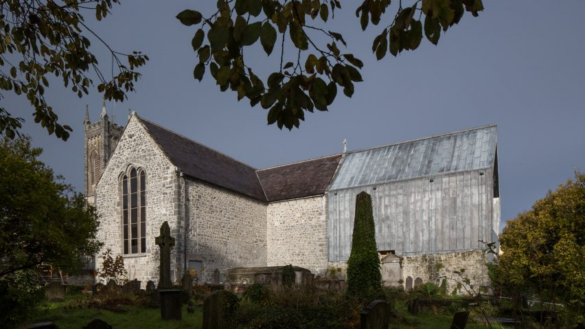 McCullough Mulvin Architects revives medieval church with lead-clad extensions