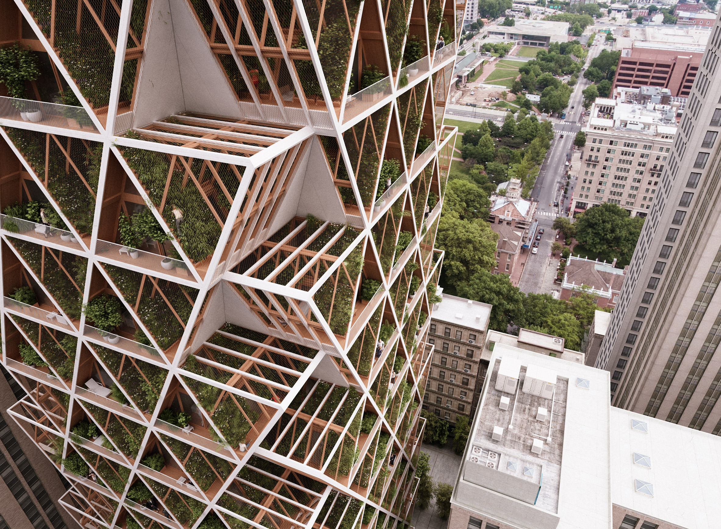 The Farmhouse by Precht combines modular homes with vertical farms