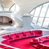 TWA Hotel inside Eero Saarinen's JFK Airport terminal open for reservations