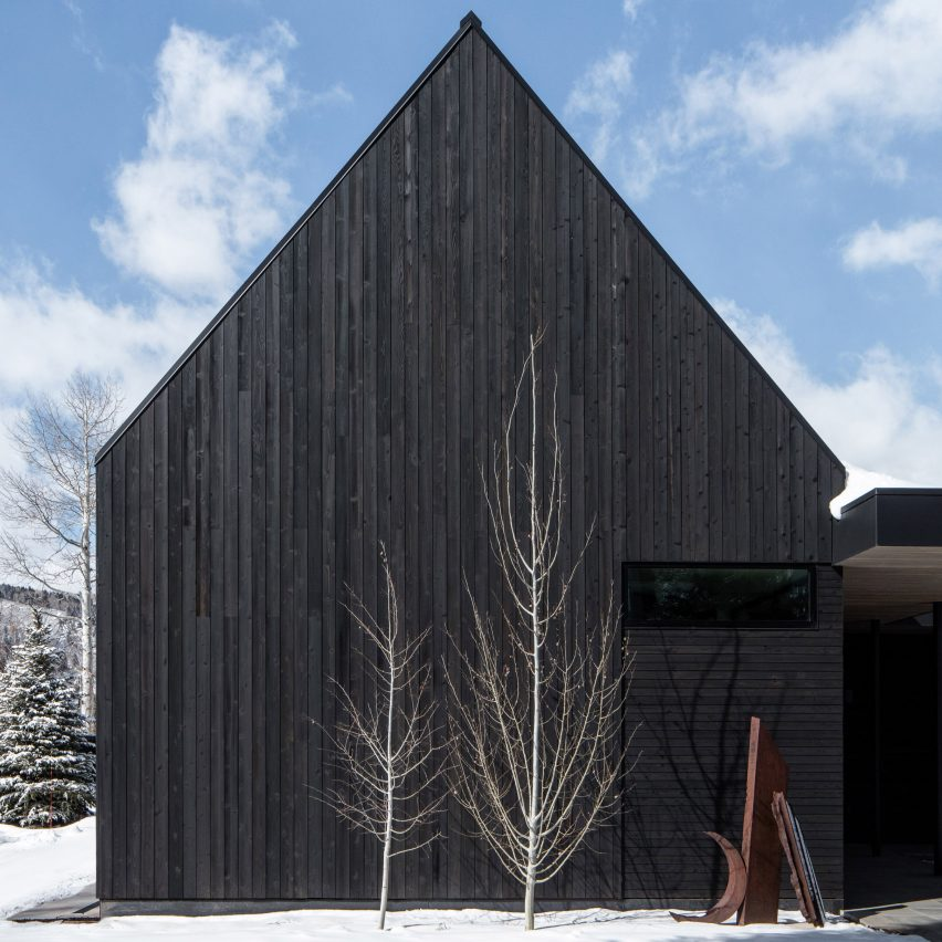 Studio B's V-Plan House in Aspen comprises black gabled forms