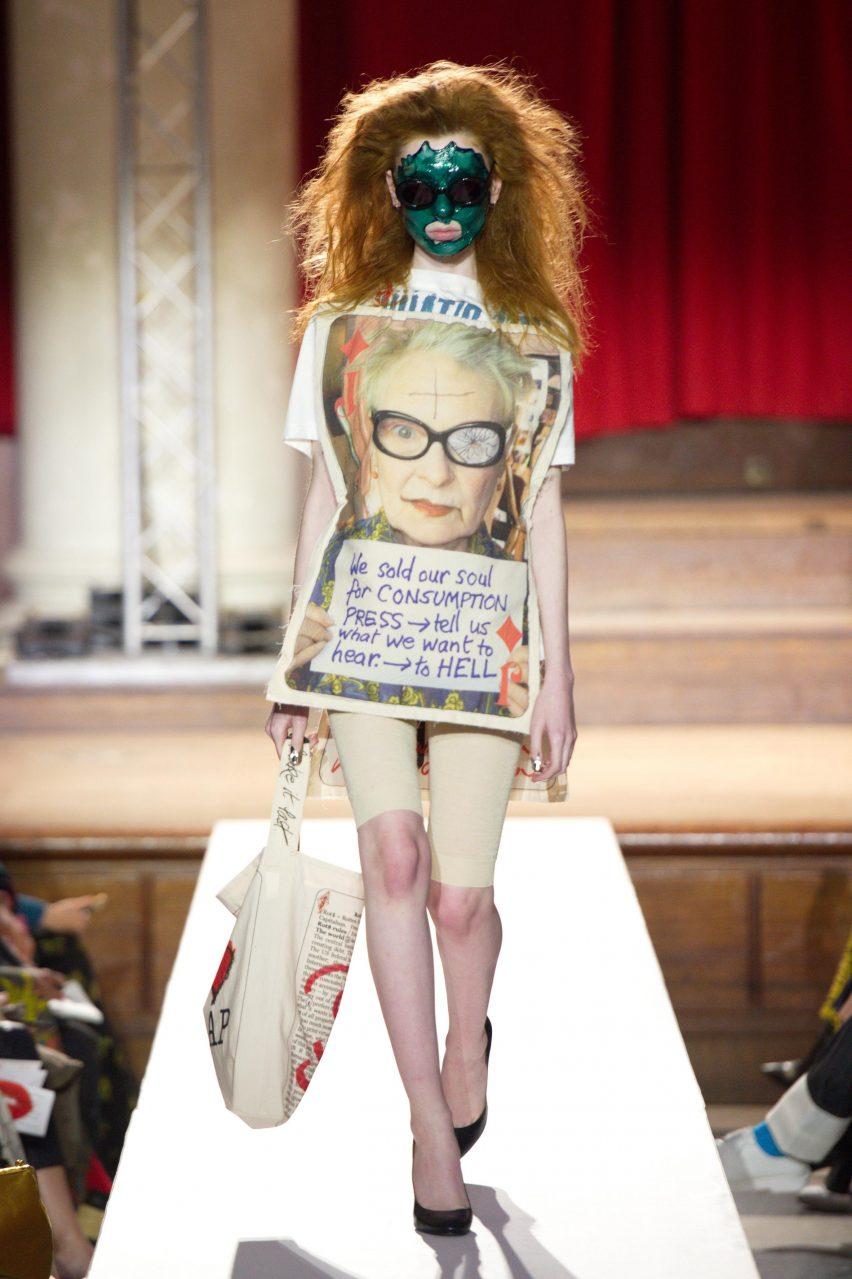 Vivienne Westwood Homo Loquax climate change fashion show A/W 2019