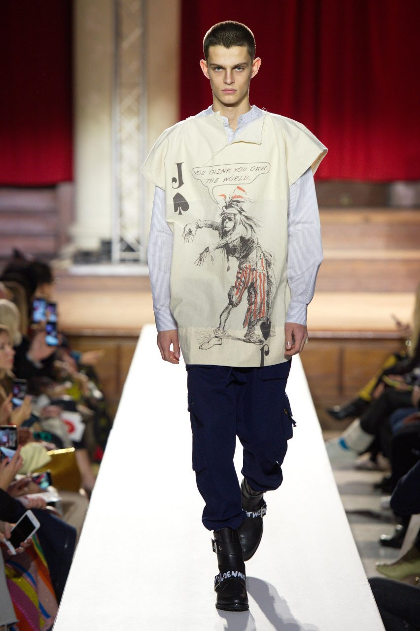 Vivienne Westwood Protests Climate Change With Homo Loquax Show At London Fashion Week