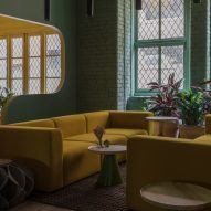 Interiors of Whitworth Locke Manchester hotel, designed by Grzywinski + Pons