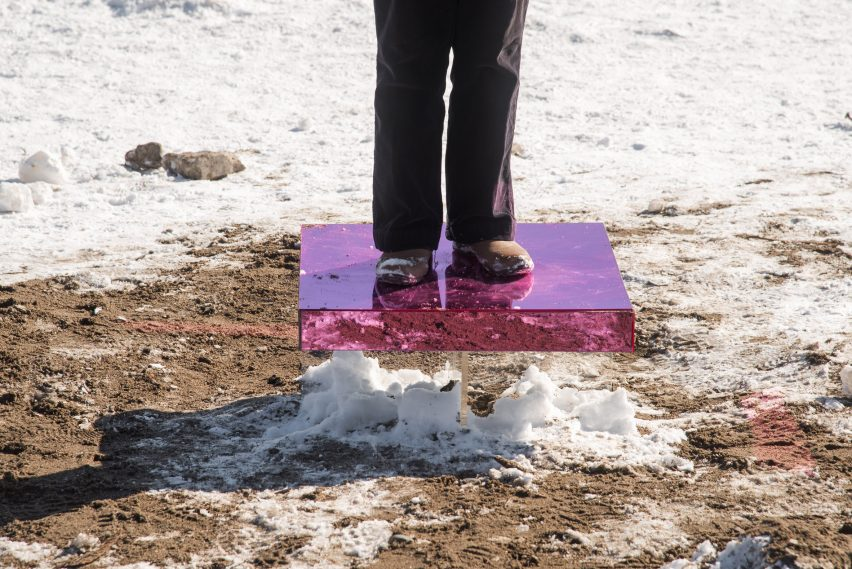 Ground² installation by Humber College students for Winter Stations Toronto 2019