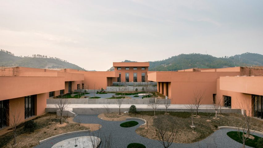 David Chipperfield's Zhejiang Museum of Natural History in China is embedded into sloping earth