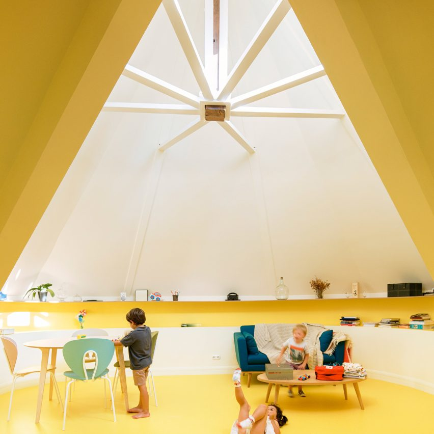 Azab adds space-saving details to domed attic apartment in Bilbao