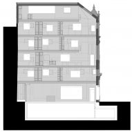 Plans of 168 Upper Street in London by Amin Taha Architects