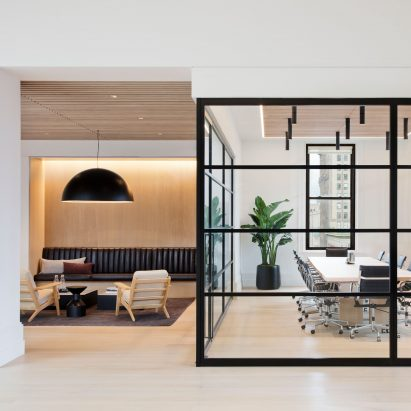 Fogarty Finger Revamps New York Office Building With Glazed And Cosy Wooden  Meeting Spaces