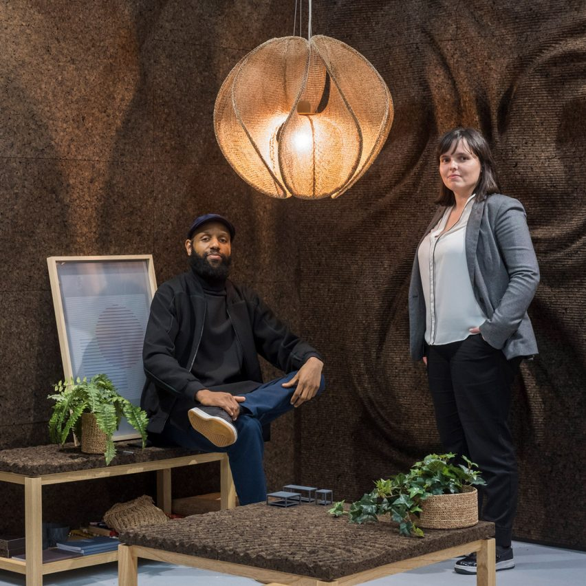 Digitalab turns cork into thread for sustainable furniture and lighting