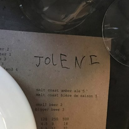 Jolene restaurant logotype Studio Frith