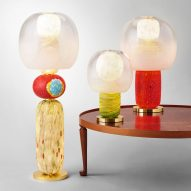 Luca Nichetto celebrates Josef Frank and Venetian glass in colourful Fusa lamps