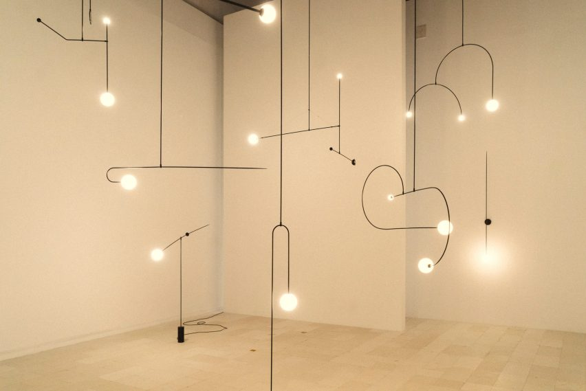 Michael Anastassiades is presenting his Mobile Chandelier series at Maison&Objet 2020